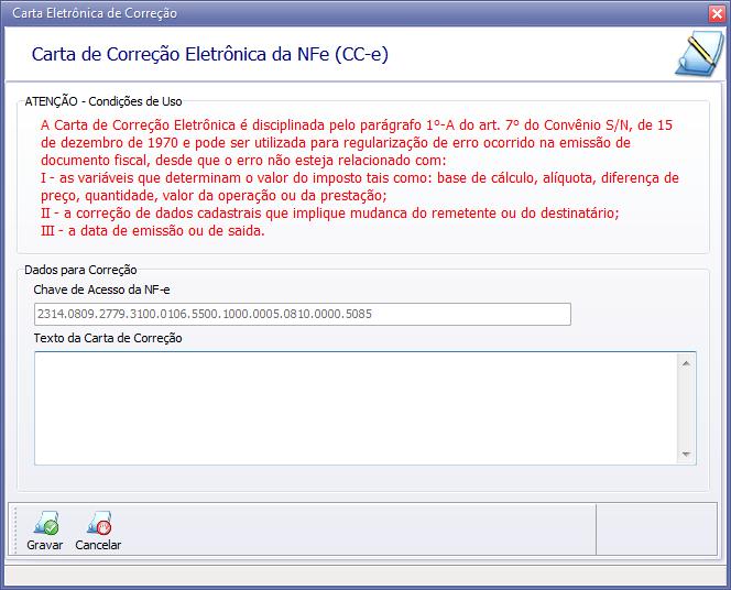 Nf E Emissão De Carta De Correção Rede Software Comércio E